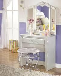 zarollina desk and vanity mirror in silver kidsfurniture