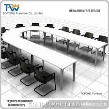Big Meeting Table Artificial Marble Stone Big Round Conference Table For Office Room
