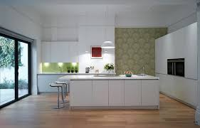 modern kitchen wallpaper ideas kitchens small modern kitchen with fish patterned wallpaper and