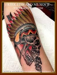 custom eno traditional indian skull by kirk nilsen nj