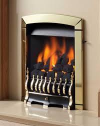flavel calypso slide control inset gas fire in brass fires and