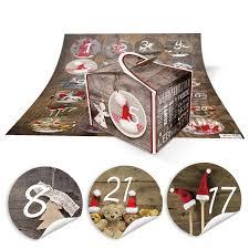 amazon de diy adventskalender weihnachten bastel set 24 kleine