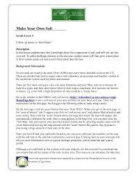Garden Soil Types - grade 4 garden lesson plan soils lesson make your own soil u2026