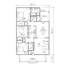 bungalow plans rectangle house plan with 3 bedrooms no hallway to maximize space