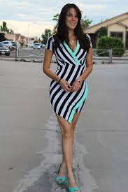 Black And White Striped Bodycon Dress Amethyst Cheairs Charlotte Russe Black White And Mint Green