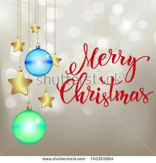 gold christmas background decor handwritten text stock vector