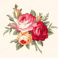 Imagenes De Rosas Vintage   ramo decorativo de rosas vintage archivo imágenes vectoriales