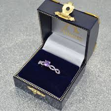 14k gold large diamond amethyst diamond u0026 amethyst engagement ring 14k white gold 1 05ct