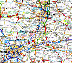 Texas Highway Map Maps Been There Seen That