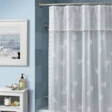 Fabric Shower Curtains With Matching Window Curtains Seashell Fabric Shower Curtain Foter