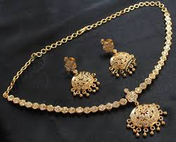 white stone necklace sets images Buy gorgeous gold plated sparkling white stone necklace set online JPG