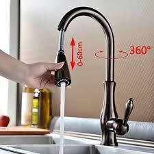 mitigeur retro cuisine robinet de cuisine déco rétro à spray démontable fini en