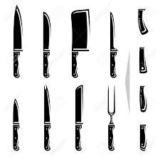 graceful kitchen knife vector 21479269 knife set vector stock