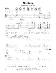 Blind Lemon No Rain No Rain Sheet Music By Blind Melon Guitar Lead Sheet U2013 164409