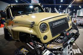 jeep pickup brute 2016 sema bruiser conversion tan jeep jk double cab pick up truck