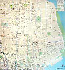 Manhattan New York Map by New York City