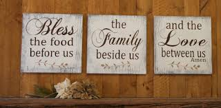 Wood Home Decor Bless The Food Before Us Wood Wallhanging Wood Kitchen Sign