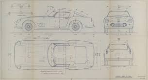 original ferrari blueprints u003d coolest bachelor pad art money can