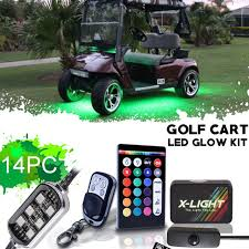 golf cart led strobe lights x light ezgo express s4 s6 golf cart led glow wireless keychain