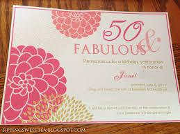 50th Birthday Invitation Card 50th Birthday Party Invitations For Her Cimvitation