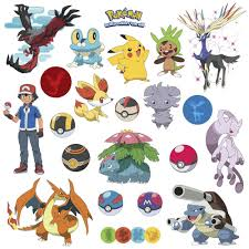 pokemon xy 24 wall decals room decorations pikachu pokeball boys pokemon xy 24 wall decals room decorations pikachu pokeball boys decor
