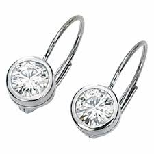 leverback diamond earrings diamond leverback earrings white gold small dangle diamond