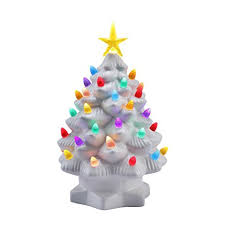 led christmas tree mr christmas 10 inch nostalgic porcelain led