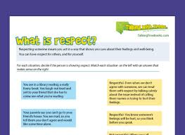respect worksheets talking with trees books