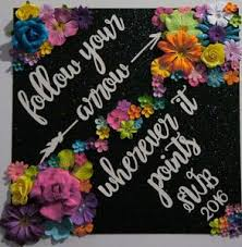 custom graduation caps custom graduation cap decoration topper follow your arrow