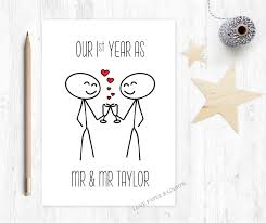 our year as mr and mr anniversary card 1st