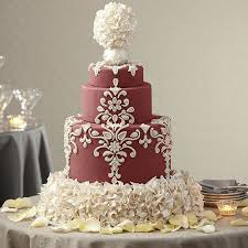 wedding cake wedding cake in marsala wilton