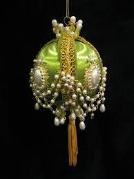 old beaded satin ball ornament vintage christmas pinterest