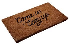Coir And Rubber Doormat Cozy Concrete Flooring With Beige Coir Doormat And Outdoor Potted
