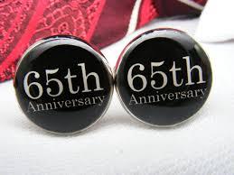 65th anniversary gift 65th anniversary cufflinks wedding anniversary gift custom