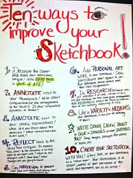 10 ways to improve your sketchbook fortify my life
