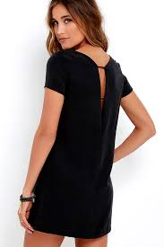 black shift dress chic washed black dress shift dress sleeve dress 49 00