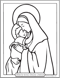 baby jesus coloring page free christmas coloring pages mary and jesus