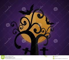 background of halloween halloween background with moon in the purple sky stock vector