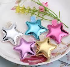 baby barrettes 2pcs gold silver pastel pink purple blue shiny foil crown