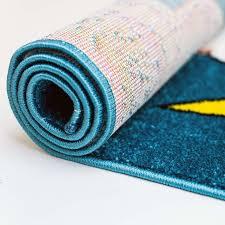 teppich kinderzimmer junge kinder teppich eulen bei nacht moda 5808 türkis flachflor