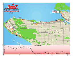 Canada Map Coloured by Event Info Canada Running Series