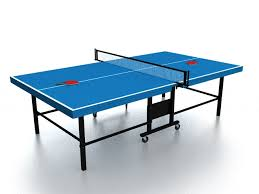 Foldable Ping Pong Table Folding Ping Pong Table 3d Model 3ds Max Files Free Download