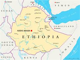 Africa Map Rivers by Ethiopia Political Map With Capital Addis Ababa National Borders