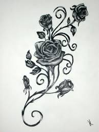 black and white flower tattoo designs collection 86
