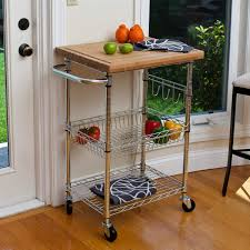 trinity ecostorage kitchen cart w bamboo cutting board