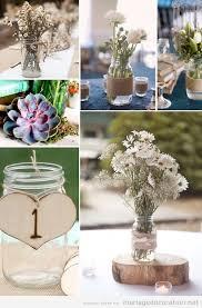 centre de table mariage pas cher idées déco mariage pas cher centre table pot verre et fleurs
