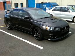 black mitsubishi lancer black evos show me your wheel colours page 4 mitsubishi