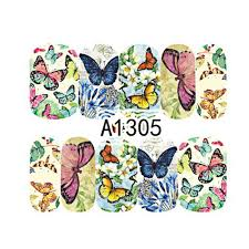 12 designs butterfly pattern mix nail decals nail water