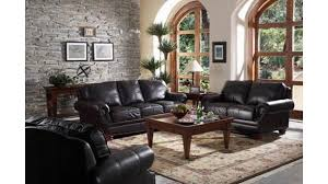 Living Room Decor With Brown Leather Sofa Living Room Ideas With Black Sofa
