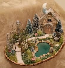 winter fairy garden christmas fairy garden cardinal on the